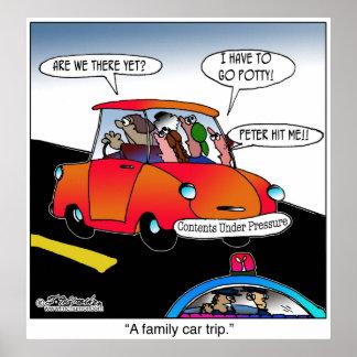Viaje del coche familiar posters