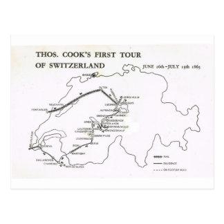 Viaje del cocinero de Thomas el primer de Suiza Postales