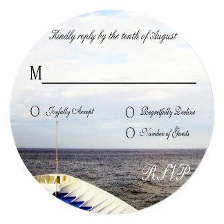"""Viaje del destino de Cruiseship del amor que casa Invitación 5.25"""" X 5.25"""""""