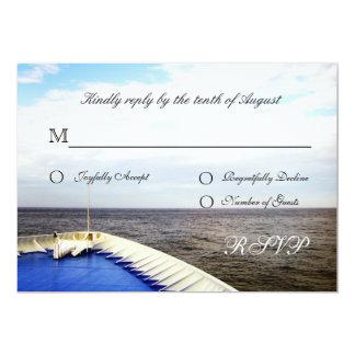 """Viaje del destino de Cruiseship del amor que casa Invitación 5"""" X 7"""""""