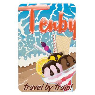 Viaje del dibujo animado del helado de Tenby Imanes