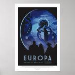 Viaje del Europa - poster retro del arte del viaje