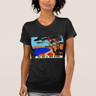 Viaje del francés de Cote d'Azur del vintage Camisetas