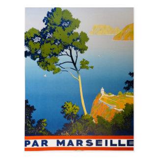 Viaje del francés del vintage de Balearic Island Tarjetas Postales