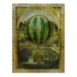 Viaje del globo del aire caliente postales