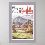 Viaje del golf de Sun Valley del vintage Poster