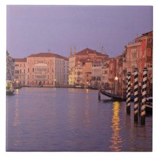 viaje del Gran Canal de la madrugada, Venecia, Ita Azulejo Cuadrado Grande