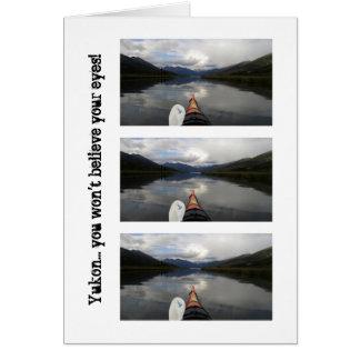 Viaje del kajak; Recuerdo del territorio del Yukón Tarjeta Pequeña