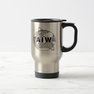 Viaje del logotipo de AIW taza del viajero