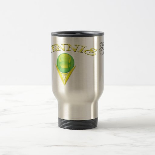 Viaje del logotipo del tenis/taza del viajero taza de viaje de acero inoxidable