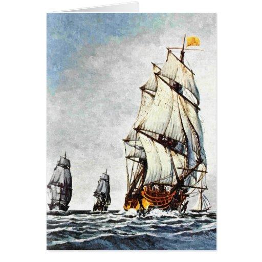 Viaje del mar tarjetas
