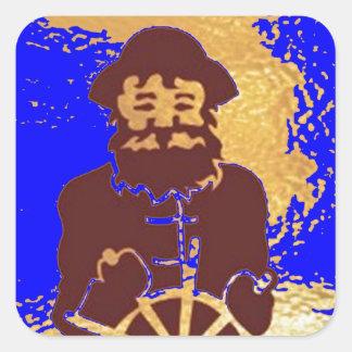 Viaje del marinero de la VELA Pegatina Cuadrada