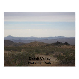 Viaje del parque nacional de Death Valley Postal