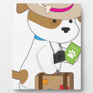Viaje del perrito placas para mostrar