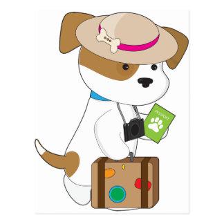 Viaje del perrito tarjeta postal