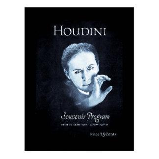 Viaje del programa 1926-27 del recuerdo de Houdini Tarjeta Postal