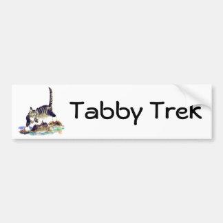Viaje del Tabby - la aventura del gatito del tigre Pegatina Para Auto