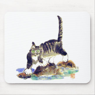 Viaje del Tabby - la aventura del gatito del tigre Tapete De Ratón