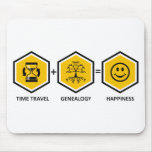 Viaje del tiempo + Genealogía = felicidad Tapetes De Ratones
