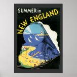 Viaje del tren del vintage poster