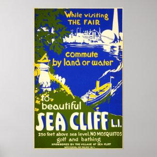 Viaje del vintage 1939 de Nueva York del acantilad Posters