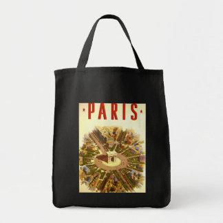 Viaje del vintage, Arco del Triunfo París Francia Bolsa Tela Para La Compra