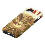 Viaje del vintage, Arco del Triunfo París Francia iPhone 5 Case-Mate Cárcasa