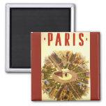 Viaje del vintage, Arco del Triunfo París Francia Iman Para Frigorífico
