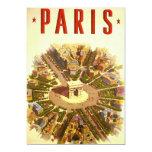 Viaje del vintage, Arco del Triunfo París Francia Comunicado Personalizado
