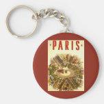 Viaje del vintage, Arco del Triunfo París Francia Llavero Redondo Tipo Pin