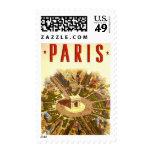 Viaje del vintage, Arco del Triunfo París Francia Franqueo