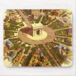 Viaje del vintage, Arco del Triunfo París Francia Tapete De Raton