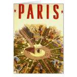 Viaje del vintage, Arco del Triunfo París Francia Tarjeta De Felicitación