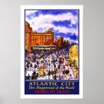 Viaje del vintage, Atlantic City Impresiones