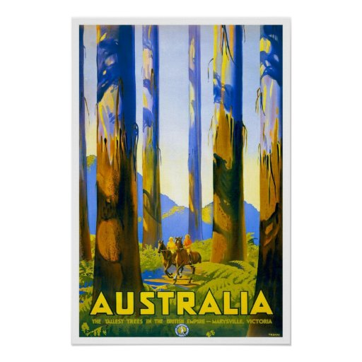 Viaje del vintage, Australia Póster