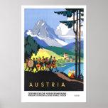 Viaje del vintage, Austria Póster
