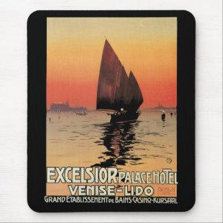 Viaje del vintage, barcos en el palacio Venecia de Tapetes De Raton