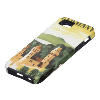 Viaje del vintage castillo alemán Baviera Aleman iPhone 5 Case-Mate Coberturas