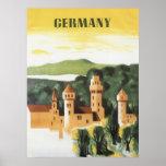 Viaje del vintage, castillo alemán, Baviera Aleman Impresiones