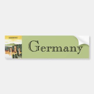 Viaje del vintage, castillo alemán, Baviera Pegatina Para Auto