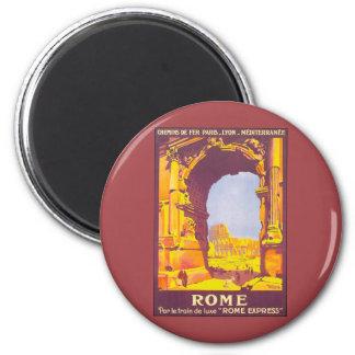 Viaje del vintage, coliseo del italiano de Roma Imán Redondo 5 Cm