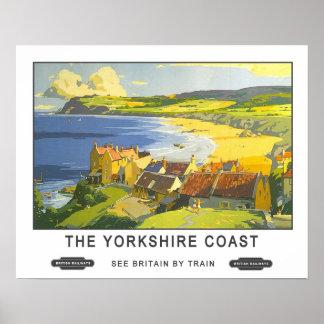 Viaje del vintage, costa de Yorkshire Póster