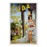 Viaje del vintage, Cuba Póster