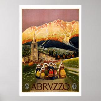 Viaje del vintage de Abruzos Italia Impresiones
