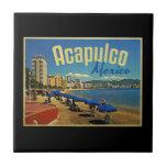 Viaje del vintage de Acapulco México Teja Ceramica