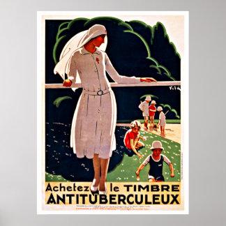 Viaje del vintage de Achetez le Timbre Nurse Poster
