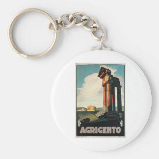 Viaje del vintage de Agrigento Italia Llavero Personalizado