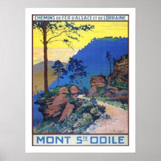 Viaje del vintage de Alsacia Francia Póster