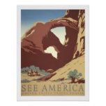 Viaje del vintage de América Poster
