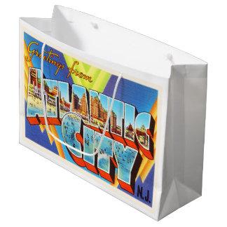 Viaje del vintage de Atlantic City 2 New Jersey NJ Bolsa De Regalo Grande